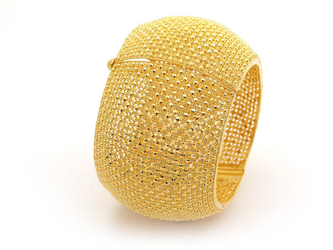 102.30g 22Kt Gold Yellow Bangle Set India Jewellery