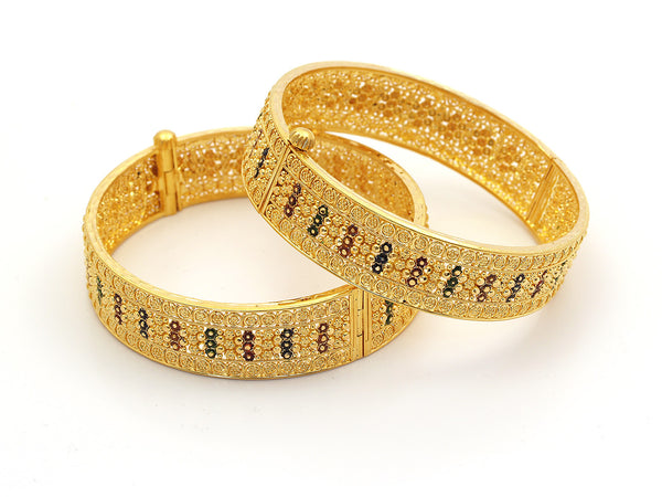 62.20g 22Kt Gold Yellow Bangle Set - 209