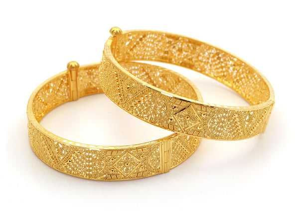52.60g 22Kt Gold Yellow Bangle Set - 210