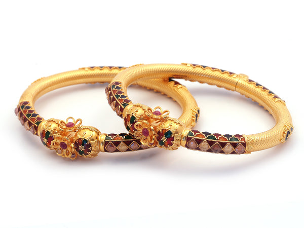 49.60g 22Kt Gold Yellow Bangle Set - 211
