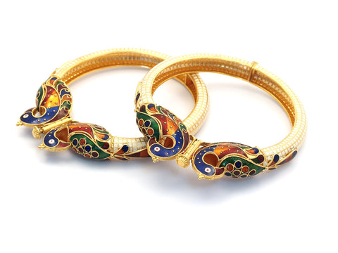 73.30g 22Kt Gold Yellow Bangle Set India Jewellery