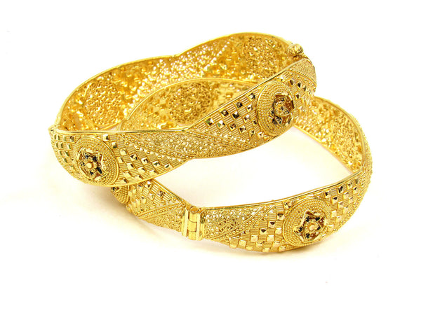 57.40g 22Kt Gold Yellow Bangle Set (Sz: 5) - 213