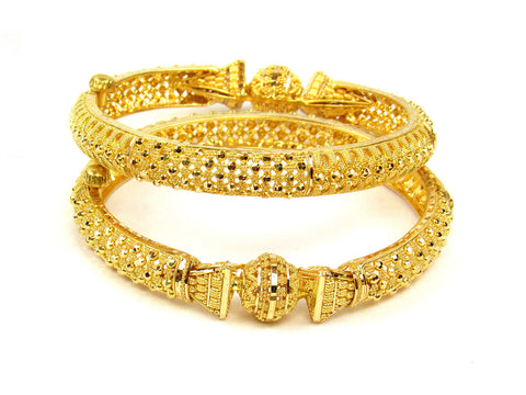 53.10g 22Kt Gold Yellow Bangle Set (Sz: 5) India Jewellery