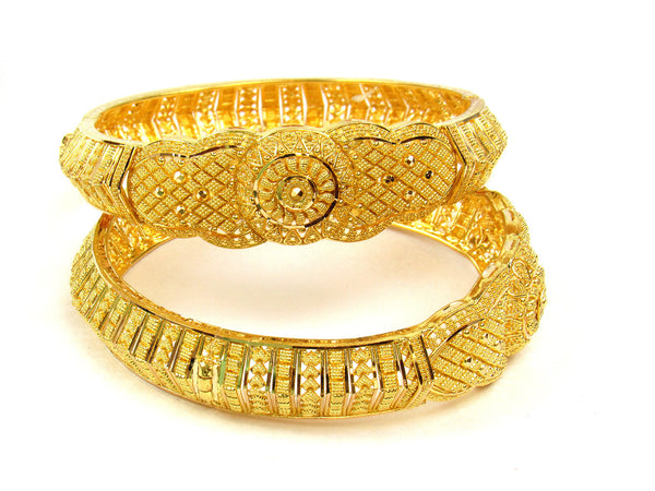 53.80g 22Kt Gold Yellow Bangle Set (Sz: 5) - 218