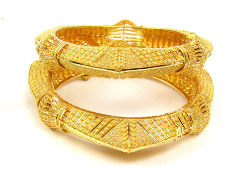 72.90g 22Kt Gold Yellow Bangle Set (Sz: 5) India Jewellery