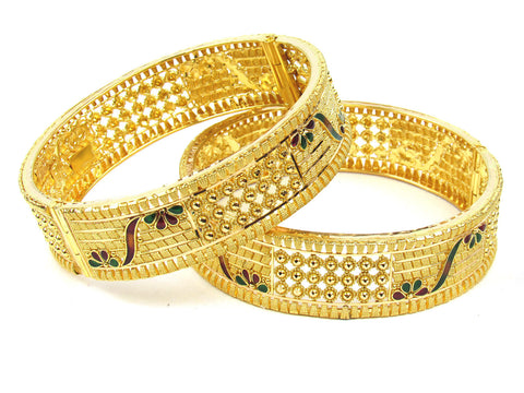 67.30g 22Kt Gold Yellow Bangle Set (Sz: 5) India Jewellery