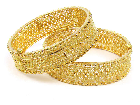 64.50g 22Kt Gold Yellow Bangle Set (Sz: 5) India Jewellery