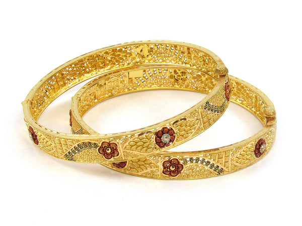 30.70g 22Kt Gold Yellow Bangle Set (Sz: 5) - 237