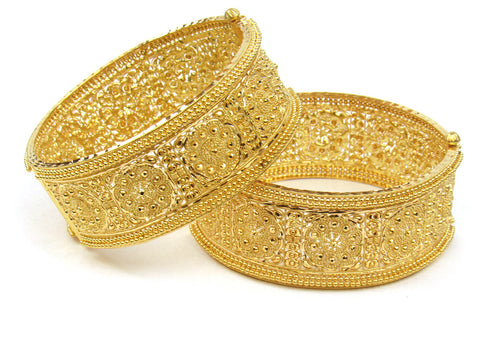 103.30g 22Kt Gold Yellow Bangle Set (Sz: 5) India Jewellery