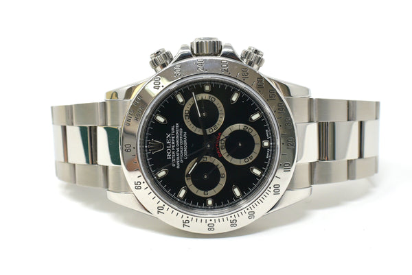 Rolex Daytona 40mm Black Dial - Fixed Engraved Tachymetric Scale