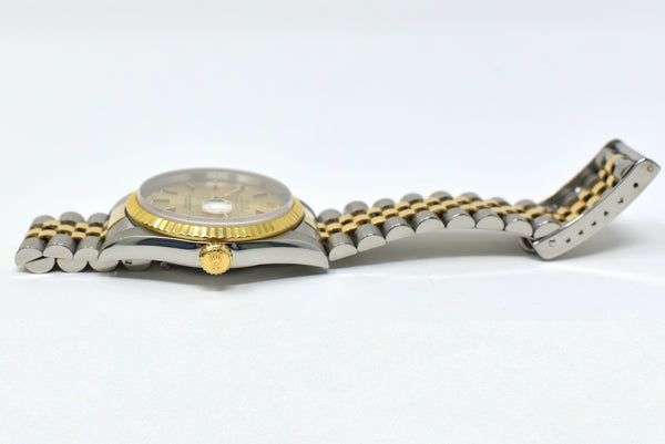 Rolex Datejust 36mm Gold Dial - Fluted
