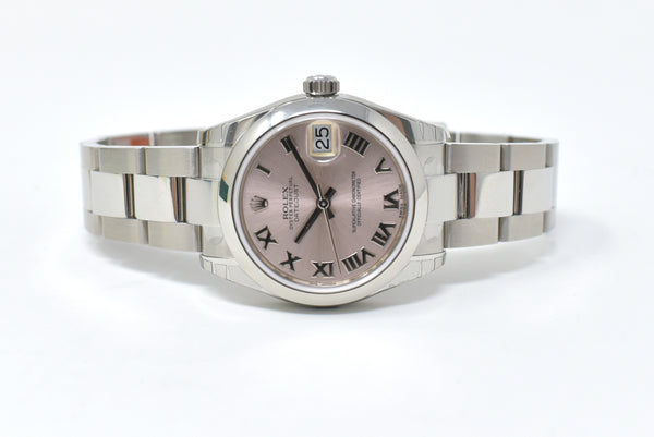 Rolex Dayjust 31mm Pink Roman Dial - Domed