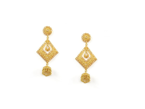 26.45g 22Kt Gold Antique Earrings - 1318