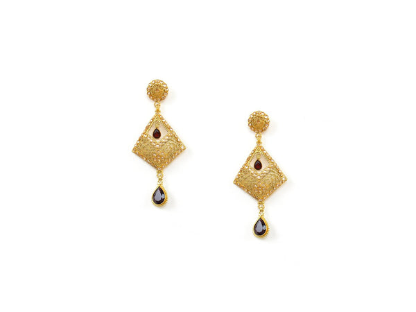 16.50g 22Kt Gold Antique Earrings - 1319