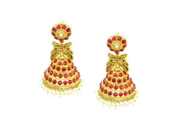 33.10g 22Kt Gold Antique Earrings - 1330