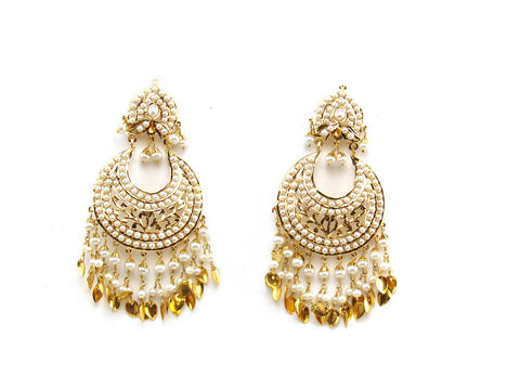 27.70g 22Kt Gold Jarou Earring India Jewellery