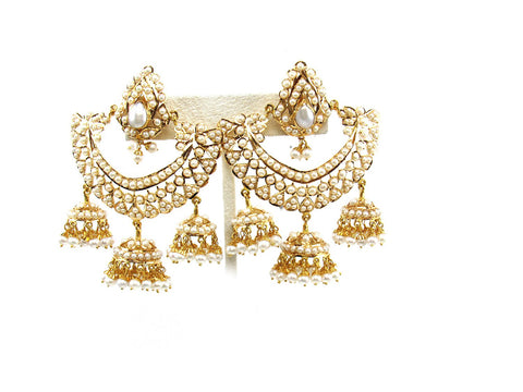 45.70g 22Kt Gold Jarou Earring India Jewellery