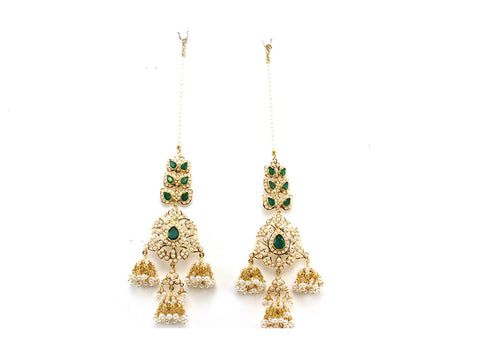 54.30g 22Kt Gold Jarou Earring India Jewellery