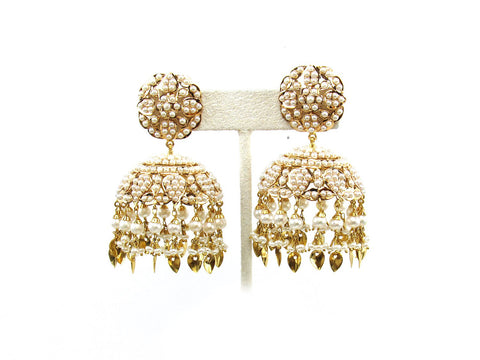 45.00g 22Kt Gold Jarou Earring India Jewellery