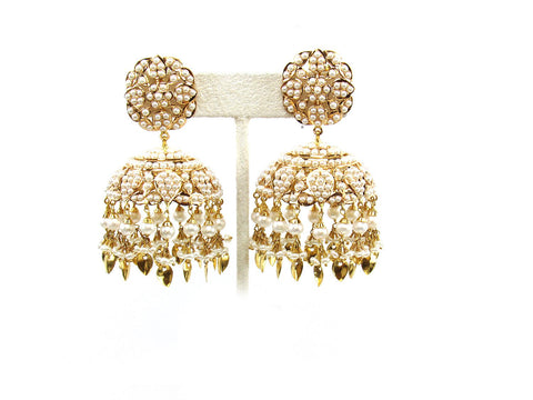45.60g 22Kt Gold Jarou Earring India Jewellery