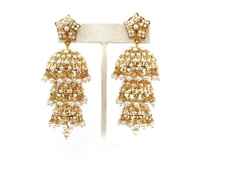 55.80g 22Kt Gold Jarou Earring India Jewellery