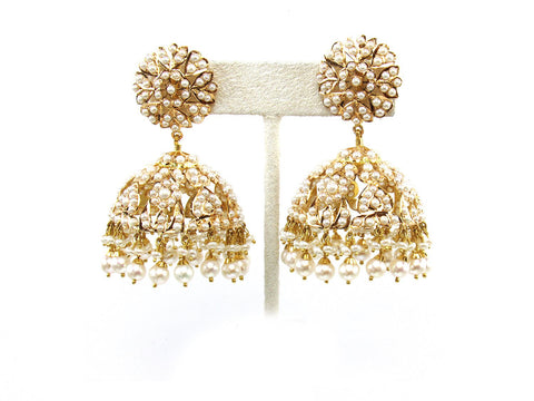 44.20g 22Kt Gold Jarou Earring India Jewellery