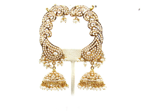 103.90g 22Kt Gold Jarou Earring India Jewellery