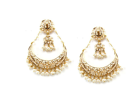 28.98g 22Kt Gold Jarou Earrings - 1611