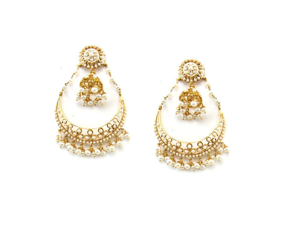 28.00g 22Kt Gold Jarou Earrings - 1612