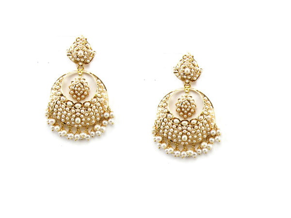 25.37g 22Kt Gold Jarou Earrings - 1617
