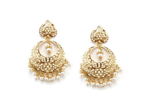 23.25g 22Kt Gold Jarou Earrings - 1618