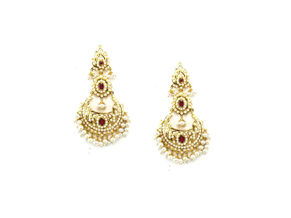 33.40g 22Kt Gold Jarou Earrings - 1620