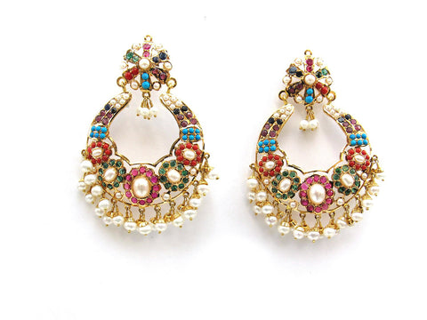 23.35g 22Kt Gold Jarou Earrings - 2101
