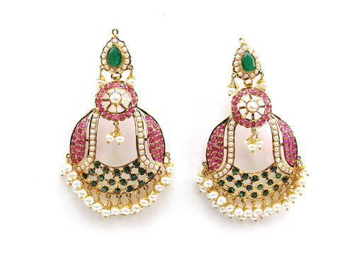 28.55g 22Kt Gold Jarou Earrings - 2102
