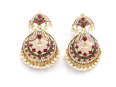 33.00g 22Kt Gold Jarou Earrings - 2103
