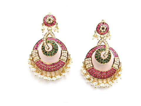 26.35g 22Kt Gold Jarou Earrings - 2104