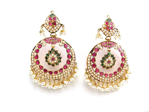29.60g 22Kt Gold Jarou Earrings - 2105