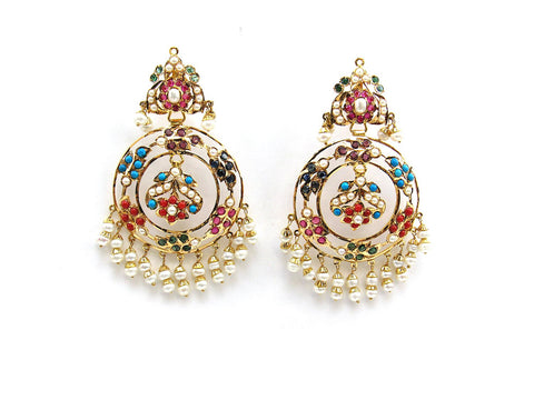 22.50g 22Kt Gold Jarou Earrings - 2108