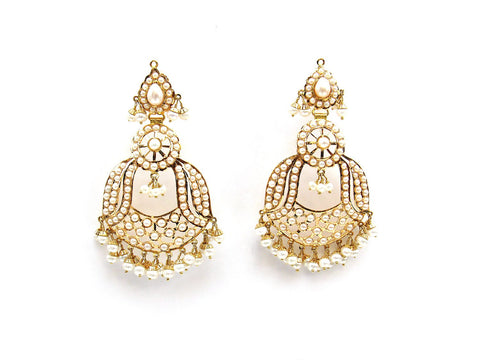 23.35g 22Kt Gold Jarou Earrings - 2109