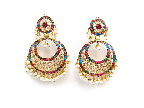 30.80g 22Kt Gold Jarou Earrings - 2112
