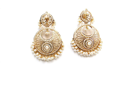 34.60g 22Kt Gold Jarou Earrings - 2122
