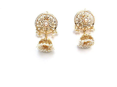 33.70g 22Kt Gold Jarou Earrings - 2123