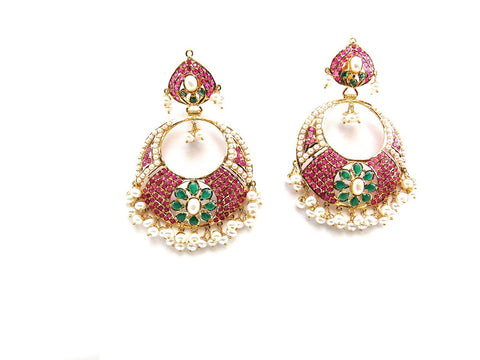 31.95g 22Kt Gold Jarou Earrings - 2124