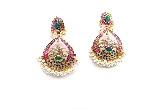 31.20g 22Kt Gold Jarou Earrings - 2125