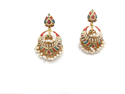 27.60g 22Kt Gold Jarou Earrings - 2126