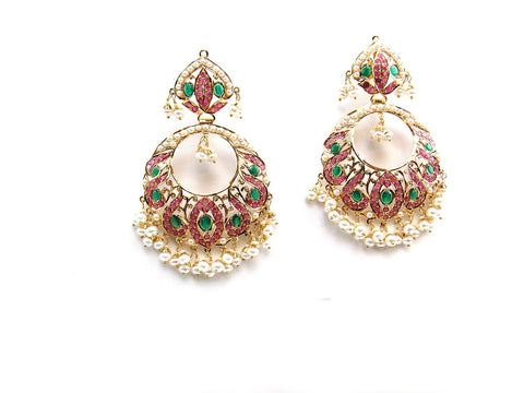 29.35g 22Kt Gold Jarou Earrings - 2128