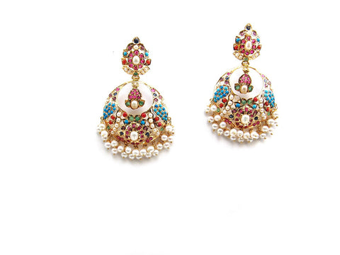 24.70g 22Kt Gold Jarou Earrings - 2129