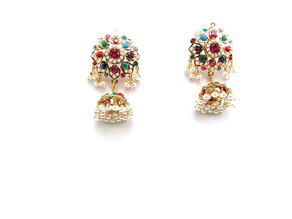 28.00g 22Kt Gold Jarou Earrings - 2131