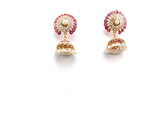 26.60g 22Kt Gold Jarou Earrings - 2132