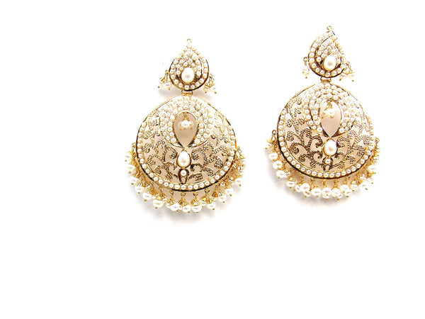 33.60g 22Kt Gold Jarou Earrings - 2133